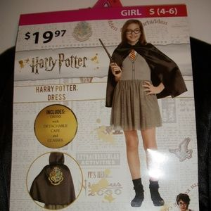 Harry Potter Girls Size Sm 4/6 3pc Wizard Costume